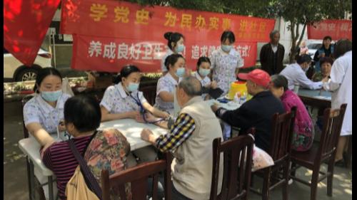 雅安仁康医院(雅安结石病医院)护理团队送健康进社区